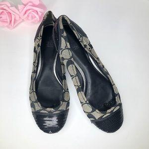 COACH Cecile Ballet Flats Sequin Cap Shoe Size 9